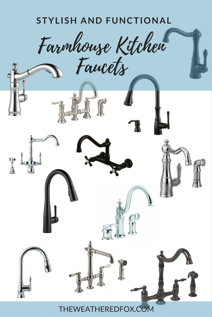 Stylish and functional farmhouse kitchen faucets  sc 1 st  The Weathered Fox & Stylish and Functional Farmhouse Kitchen Faucets - The Weathered Fox