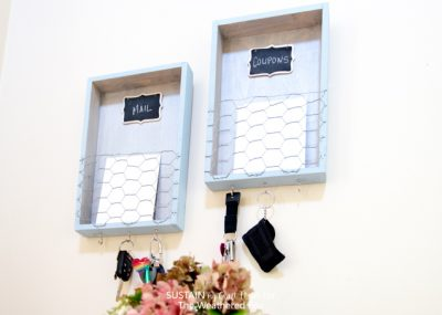 Make your own farmhouse inspired mail sorter and key holder. Full DIY tutorial included.