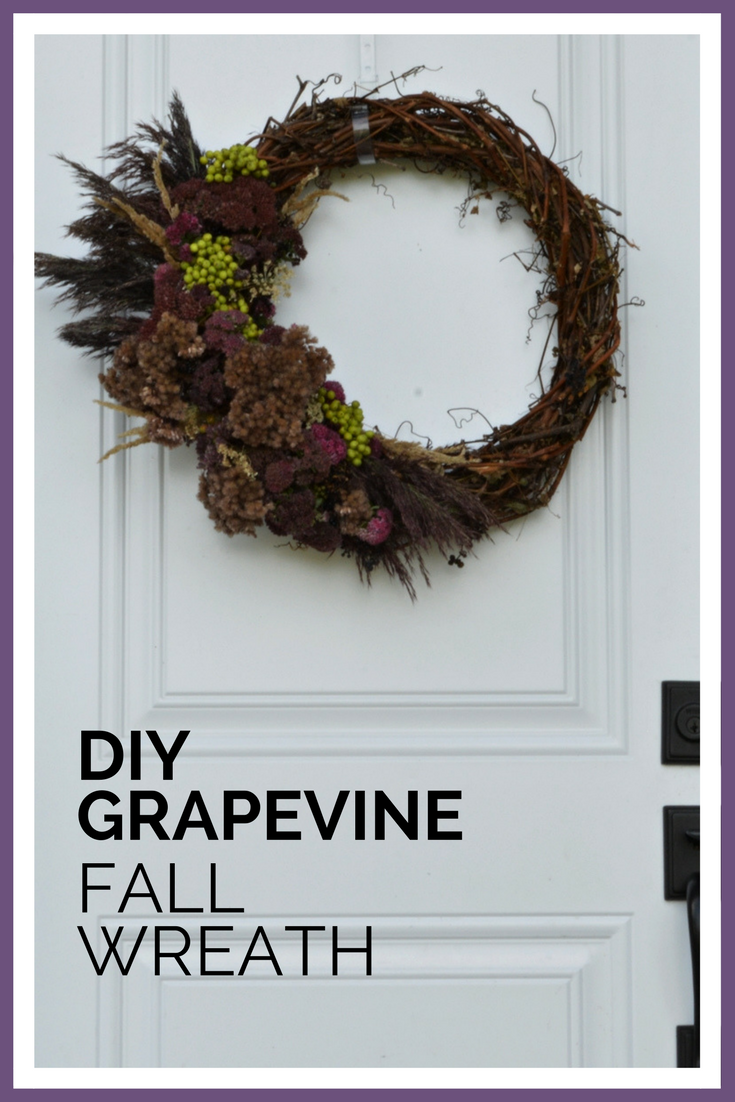 Easy and Inexpensive DIY grapevine fall wreath