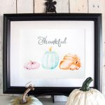 Watercolor Pumpkins Free Thanksgiving Art