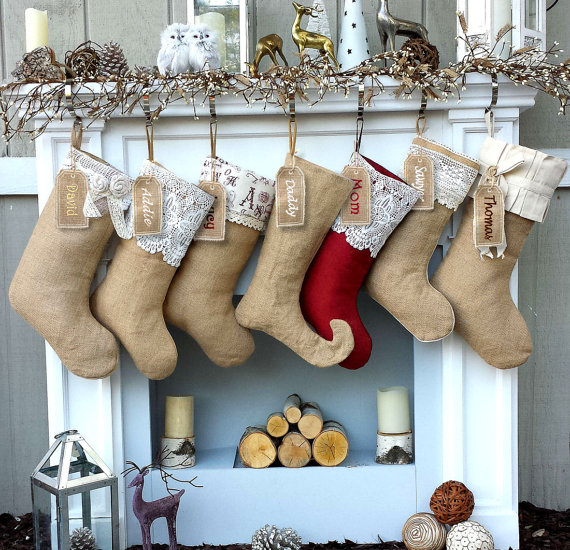 farmhouse christmas stockings - Farmhouse Christmas Decor