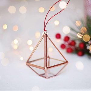 copper christmas tree ornaments