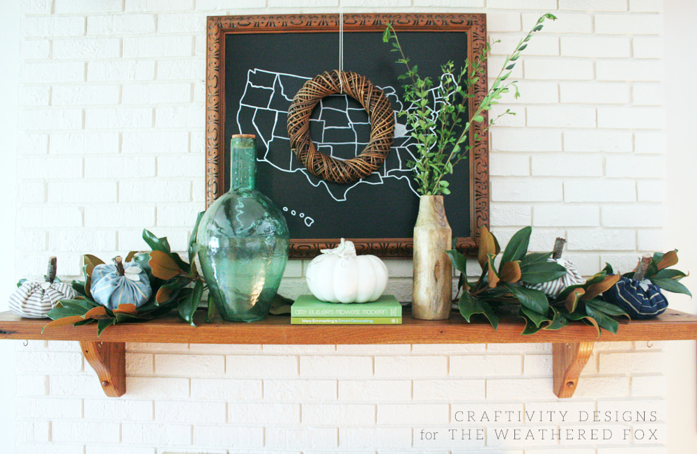Farmhouse Style Fall Mantel in 5 Simple Steps