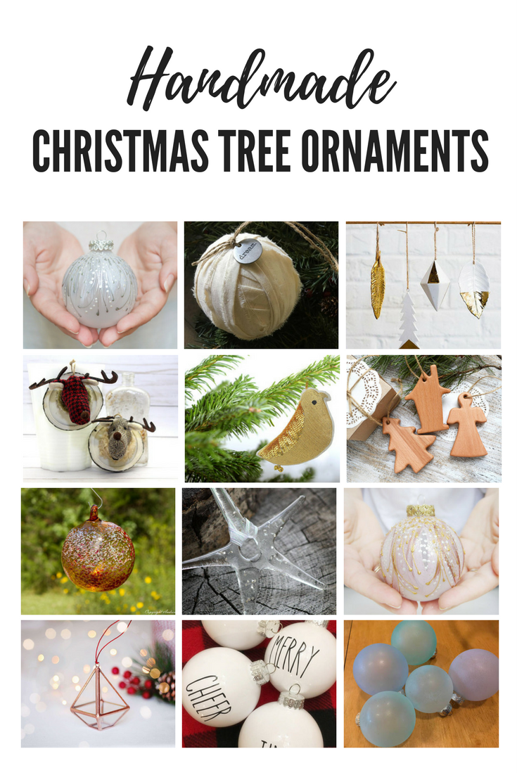 Handmade farmhouse Christmas tree ornaments