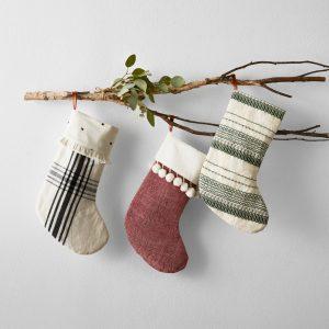 magnolia farmhouse christmas stocking