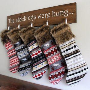 Nordic christmas stocking