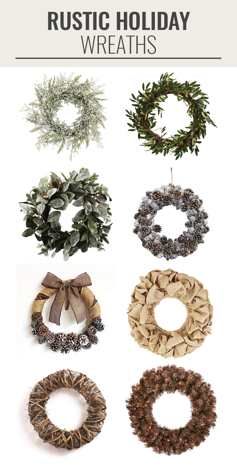 rustic holiday wreaths