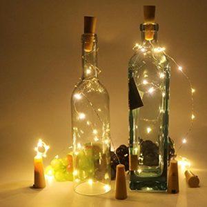 wine bottle wire lights