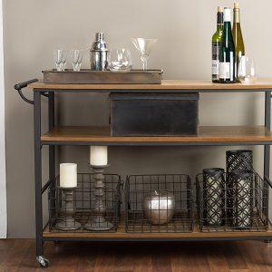 baxton studio lancashire kitchen cart
