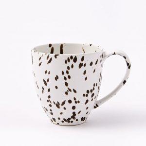 black spotted mug