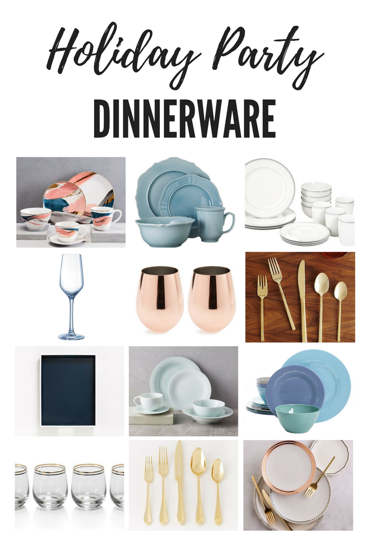 Holiday party dinnerware to create a festive tablescape