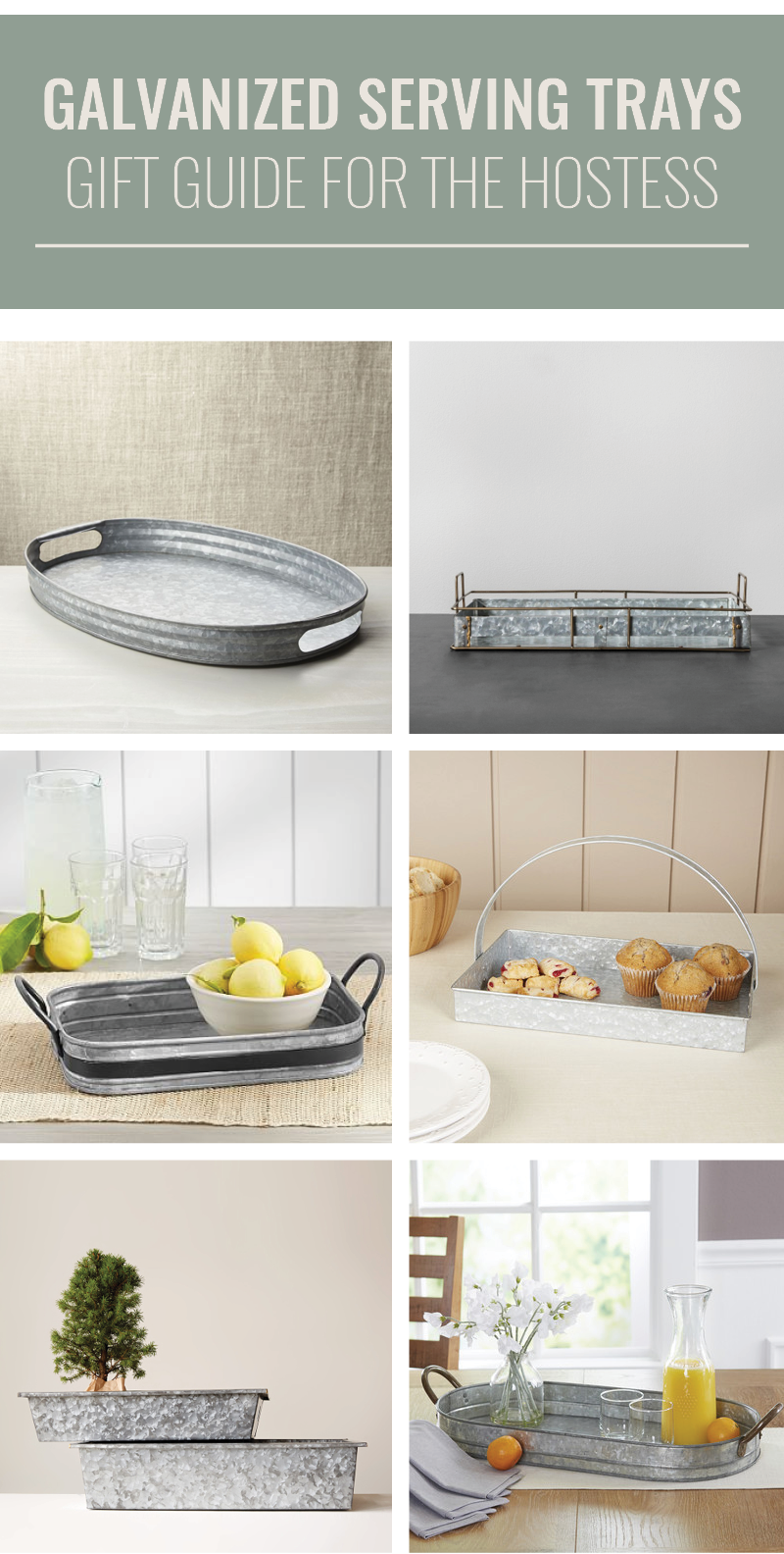 galvanized tray gift guide