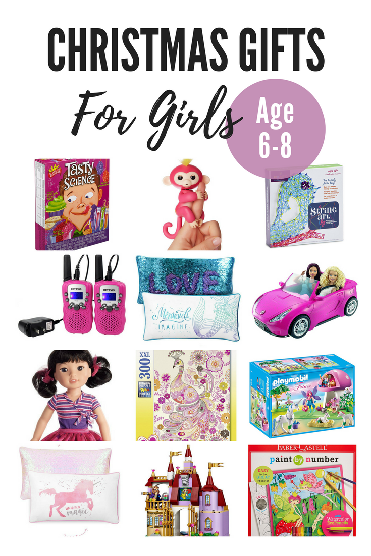 Christmas gift ideas for girls age 6-8. Toys for girls.