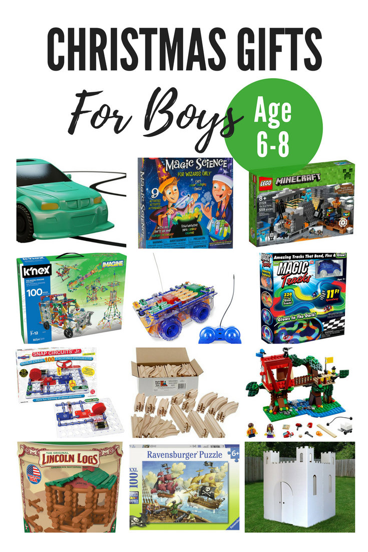 Christmas gift ideas for boys age 6-8. Toys for boys