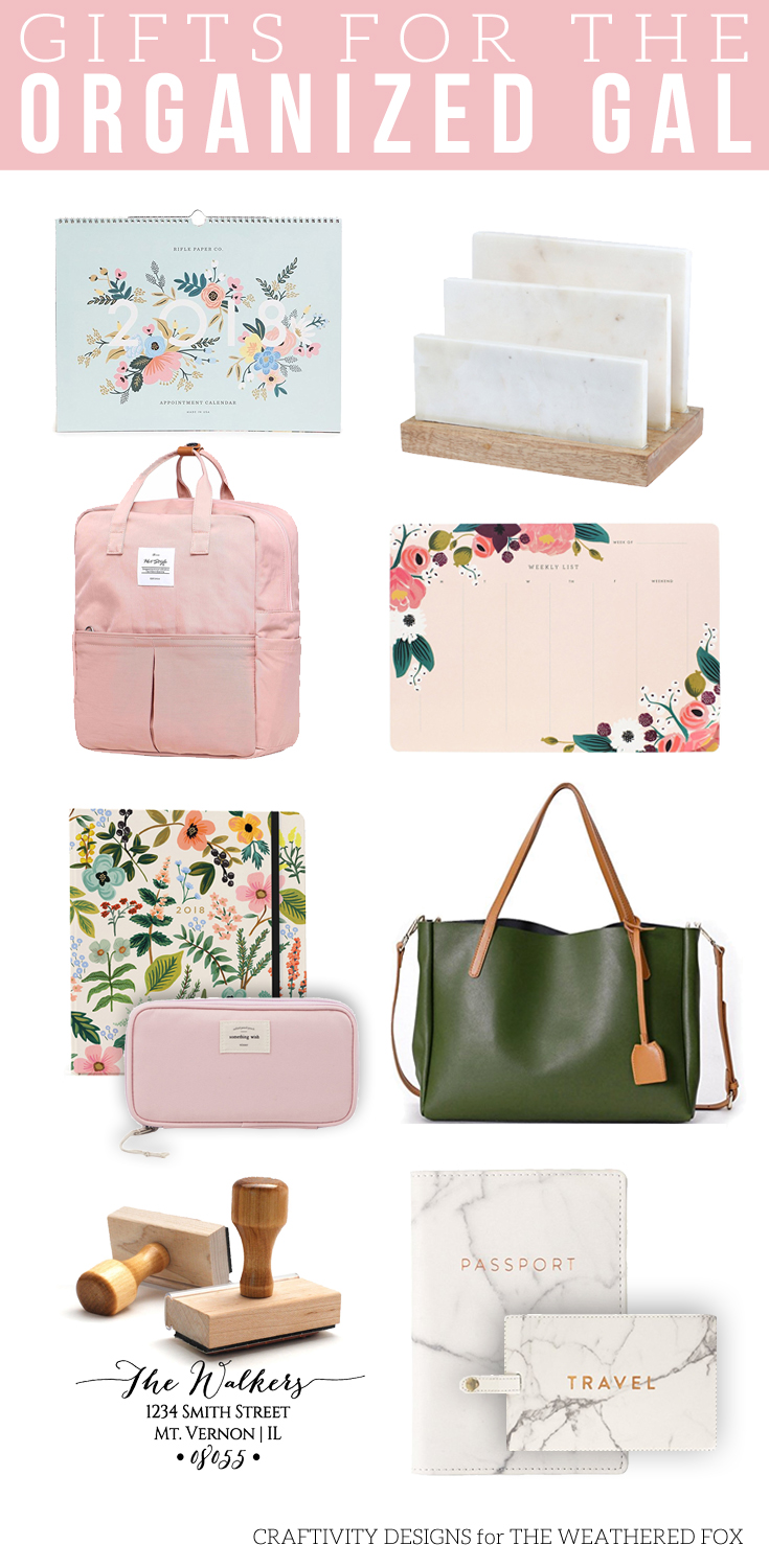 Gifts for the Organized Gal, Gift for Her, Gift Guide, #giftguide #organization