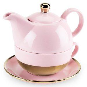 pink tea pot