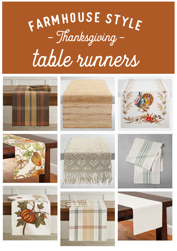 Farmhouse Style Thanksgiving Table Runners, hosting essentials, fall table runners, fall tablescape, thanksgiving table setting