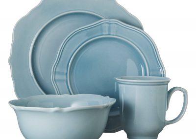 threshold aqua dinnerware set