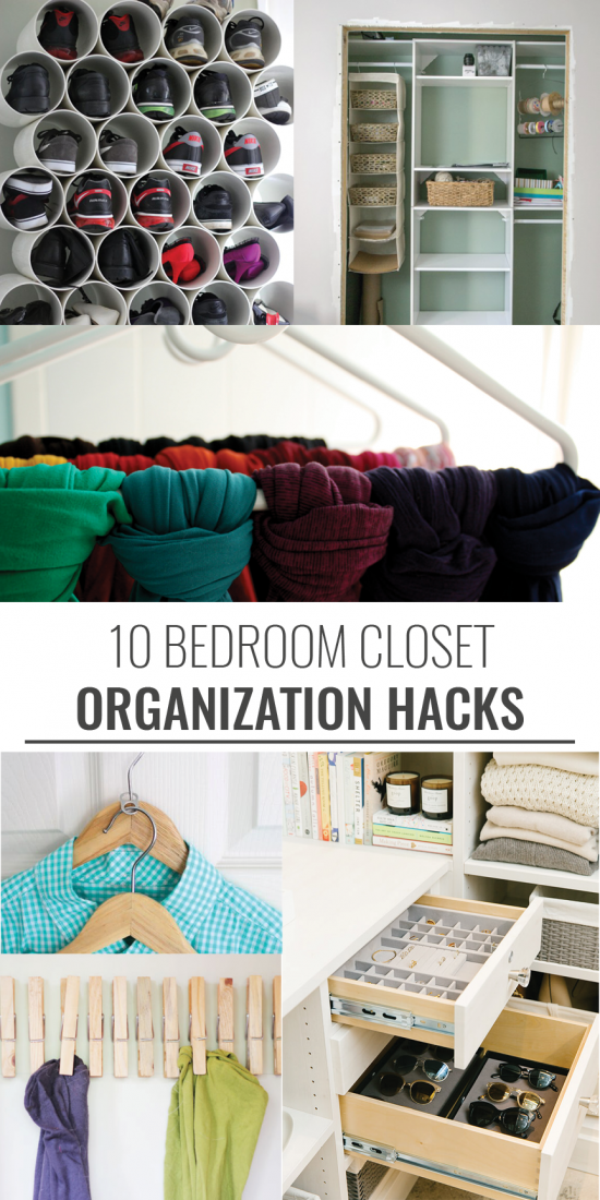 organize small bedroom 10 closet organization hacks 12748