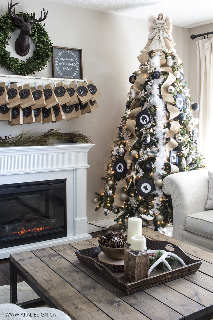AKA Design Neutral Glittery Farmhouse Christmas Tree