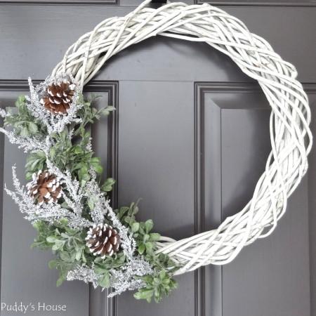 Warm Winter Sweater Wreath Stone Gable