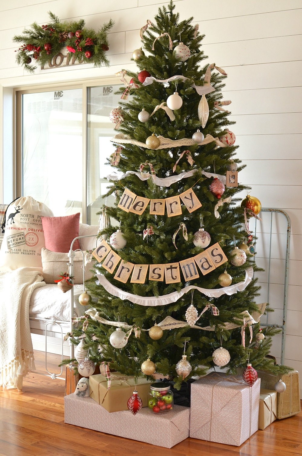 little vintage next farmhouse christmas tree - Farmhouse Christmas