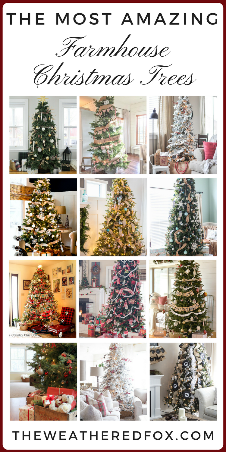 the most amazing farmhouse christmas trees - Farmhouse Christmas Tree Decorations