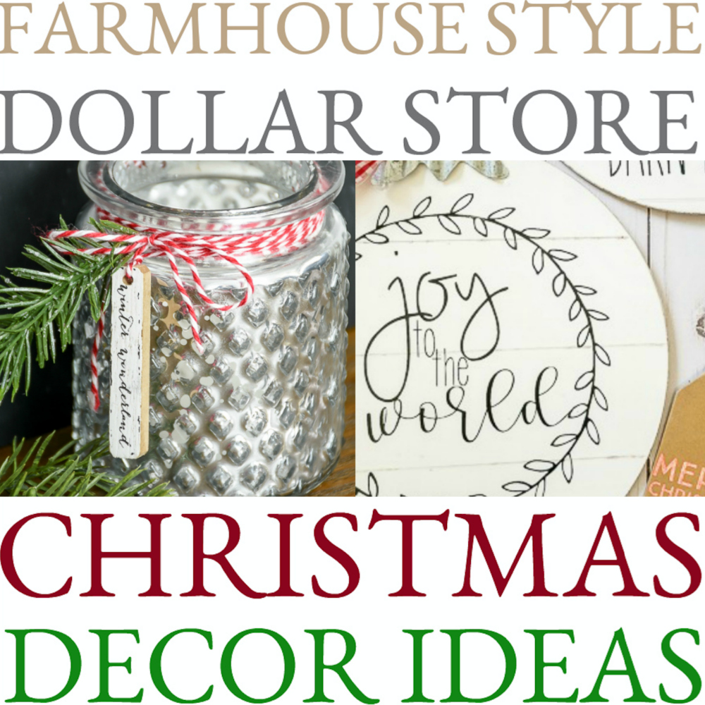 farmhouse style dollar store christmas decor ideas to dry - Dollar Tree Hours Christmas Eve