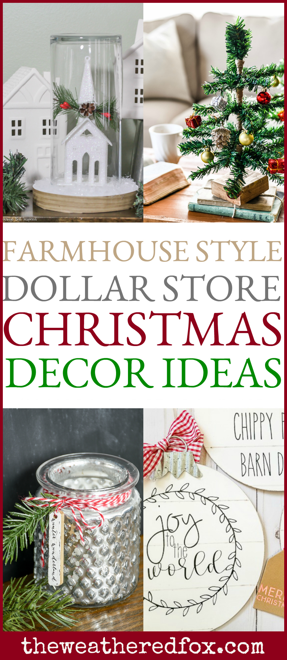 Dollar Store Christmas Decor Ideas The Weathered Fox