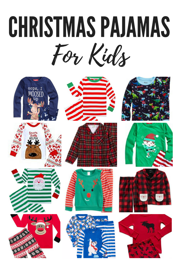 The best Christmas pajamas for kids! New Christmas jammies. Christmas gift ideas