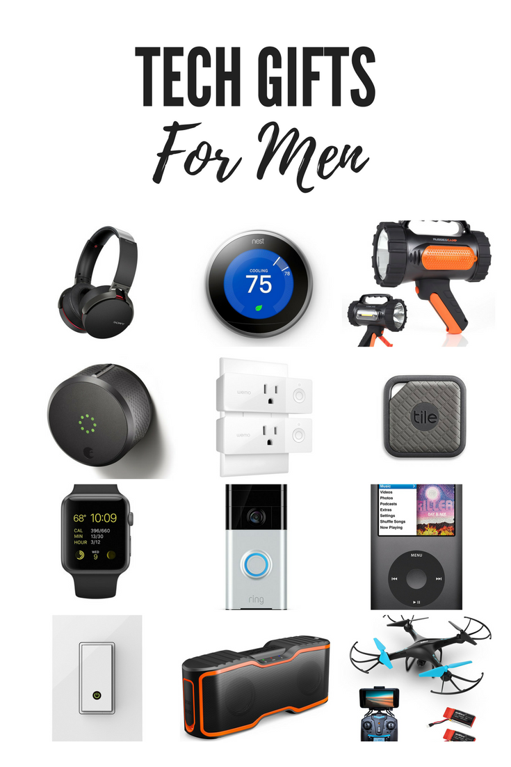 The best tech gifts for men. Smart home, bluetooth technology, entertainment