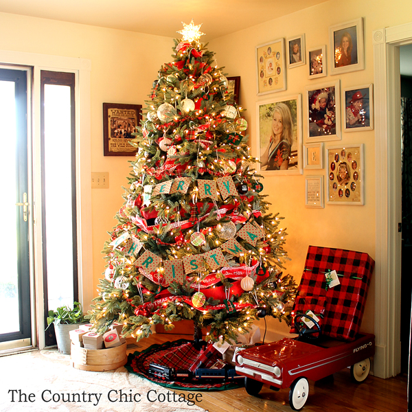 The Country Chic Cottage Rustic Farmhouse Christmas Tree