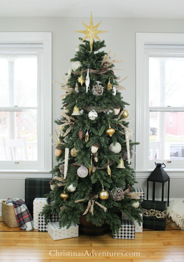 Christina's Adventures Rustic Glam Farmhouse Christmas Tree