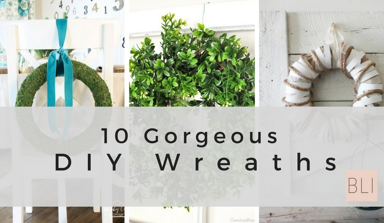 Looking for some inspiration for your DIY wreath project? These 10 gorgeous DIY wreaths are just what you've been looking for! Click here for the tutorials! DIY Wreaths, DIY wreaths for front door, diy wreath ideas