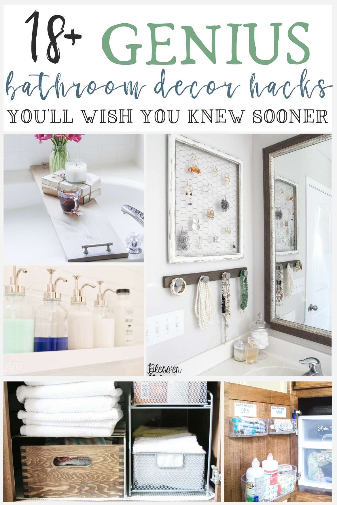 18+ Genius Bathroom Organization U0026 Decor Hacks Youu0027ll Wish You Knew Sooner    The Weathered Fox