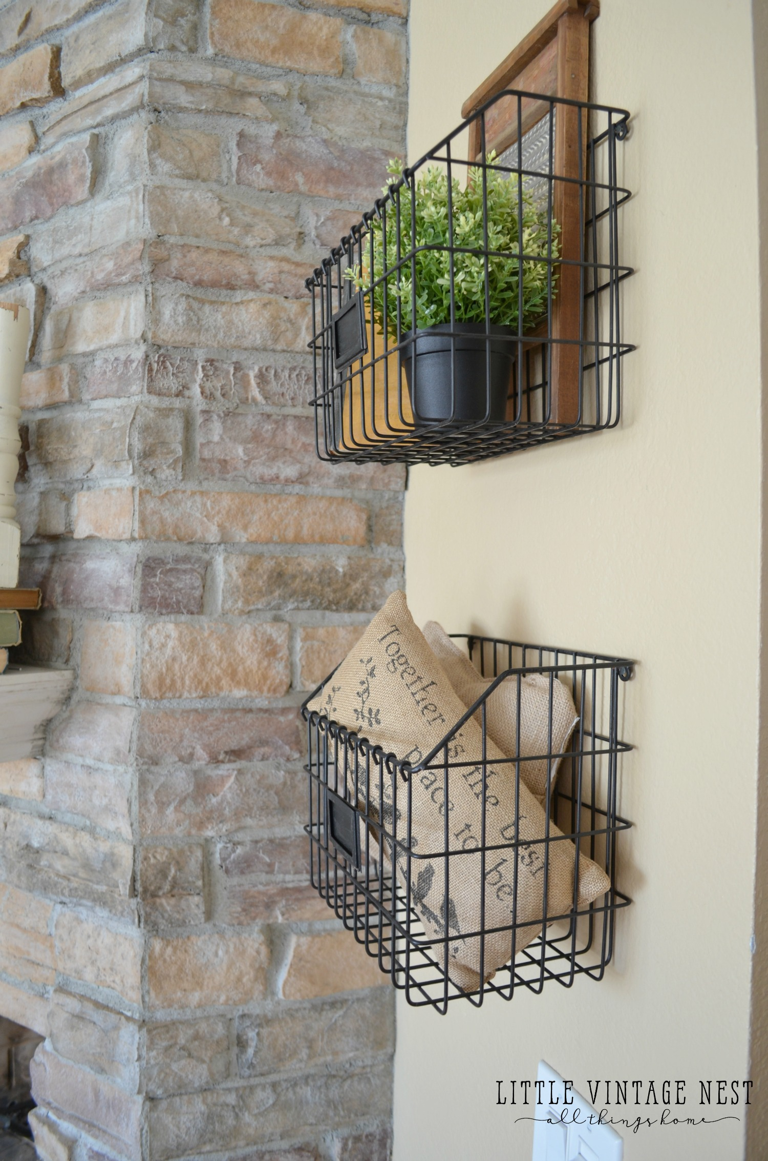 Wire mudroom baskets