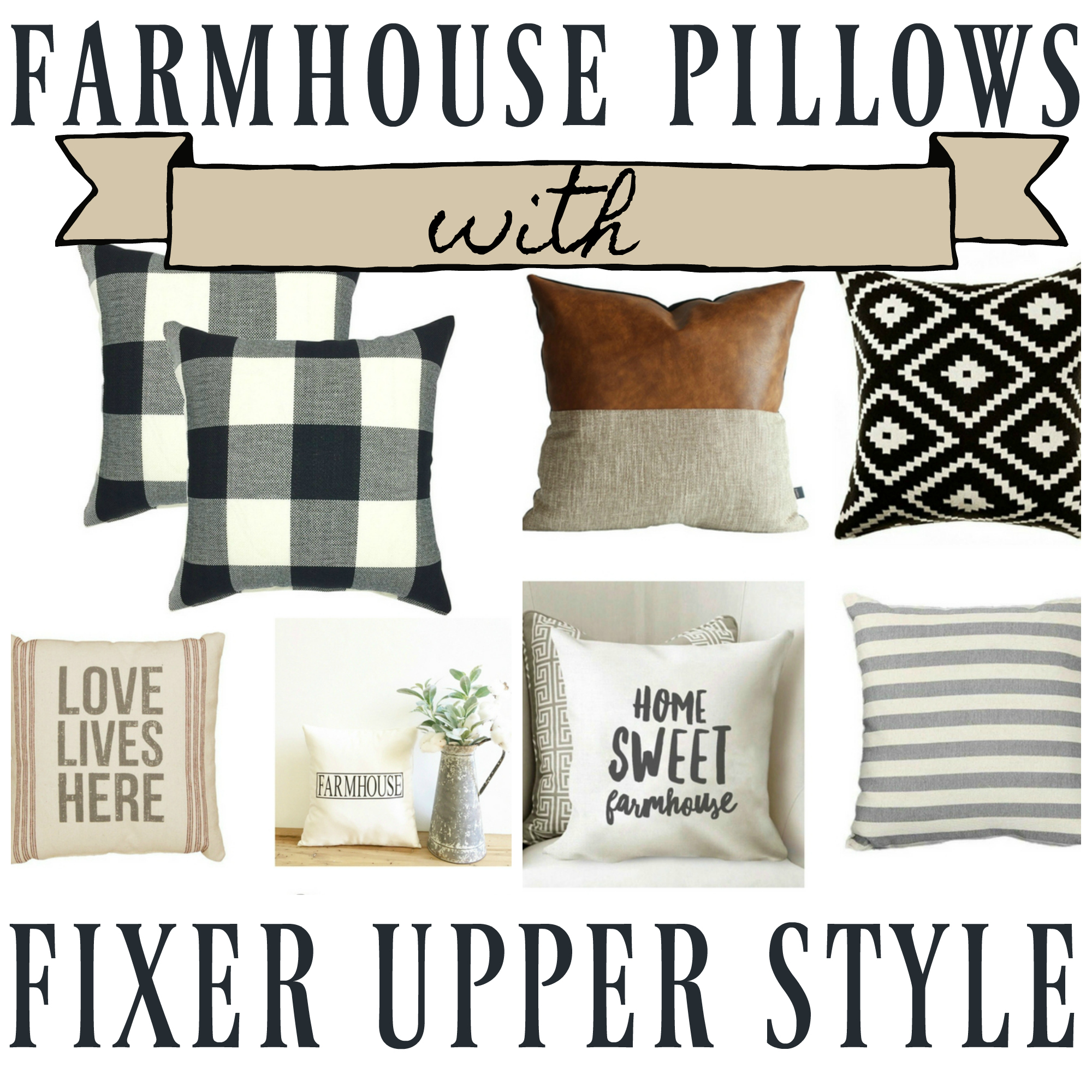 Astonishing Fixer Upper Farmhouse Throw Pillows The Weathered Fox Inzonedesignstudio Interior Chair Design Inzonedesignstudiocom