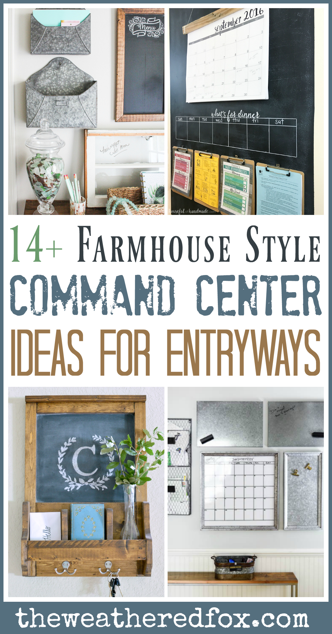 14 Farmhouse Style Entryway Command Centers The Weathered Fox