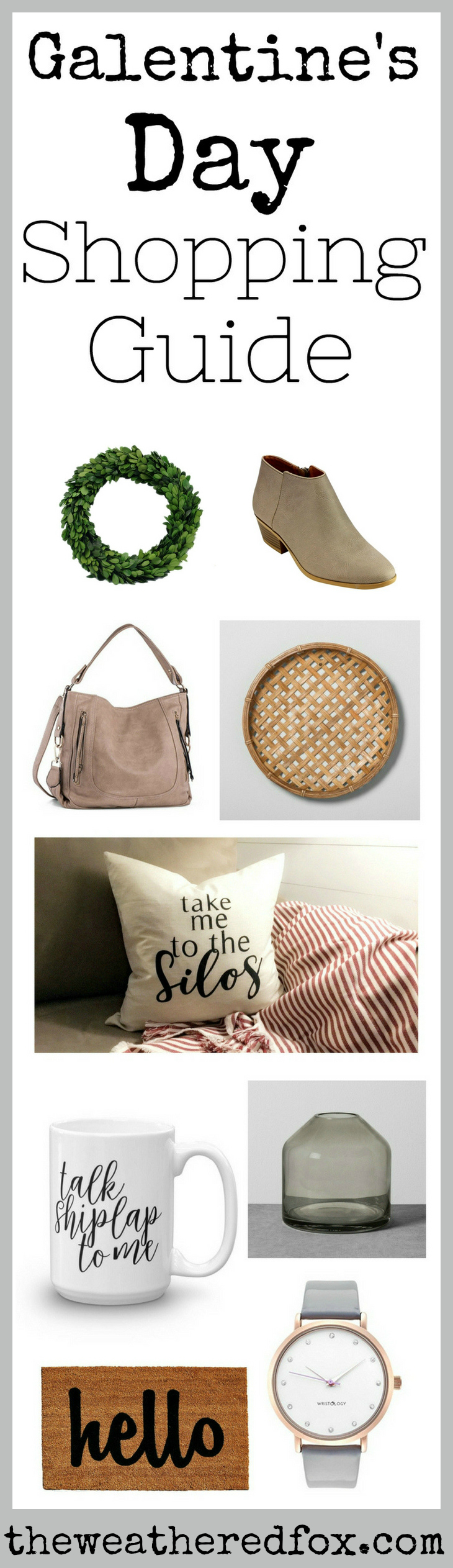 Have you been looking for some Galentine's Day ideas? I've got you covered with this amazing Galentine's Day Gifts shopping guide! Everything that your BFFs actually want, like booties, bags and farmhouse home decor! Leslie Knope would be proud!