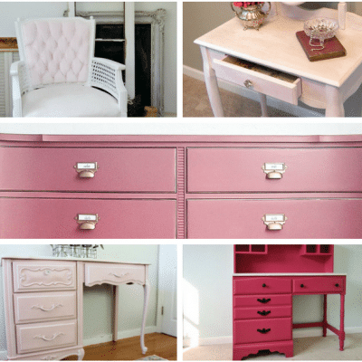 Pink Furniture Makeover Inspiration