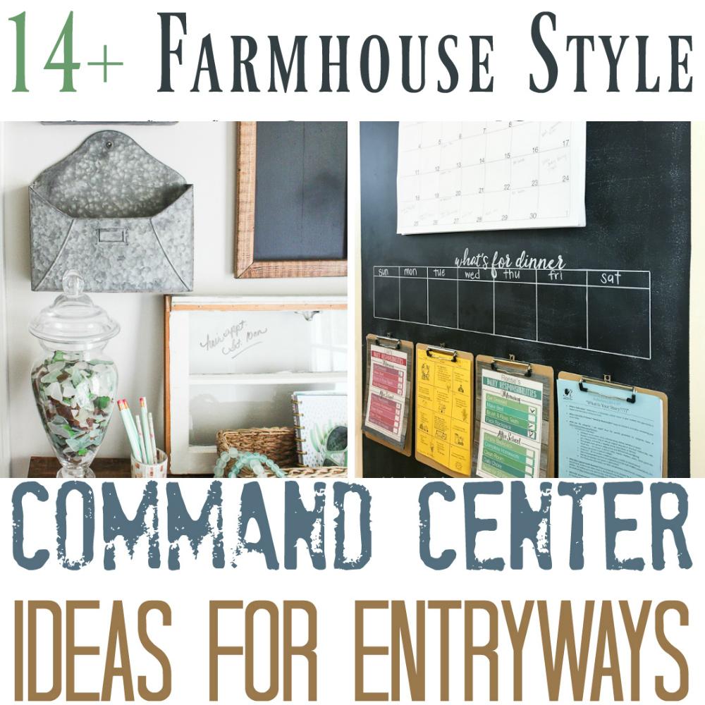 14+ Farmhouse Style Entryway Command Centers