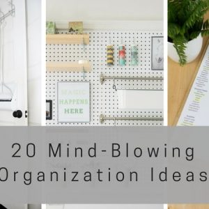 Maximize your home's space with these twenty, mind-blowing organization ideas! Get your house back in order and get back to enjoying your space! Organization ideas for the home, organization diy, organization, organize, organizing