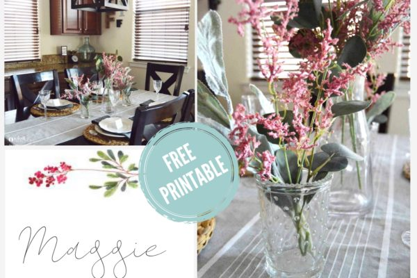 A simple and easy spring tablescape that will wow your guests