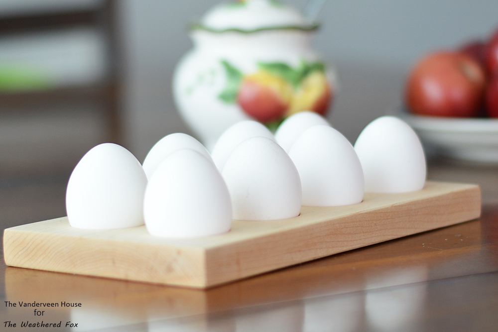 How to make a farmhouse style egg holder from solid maple