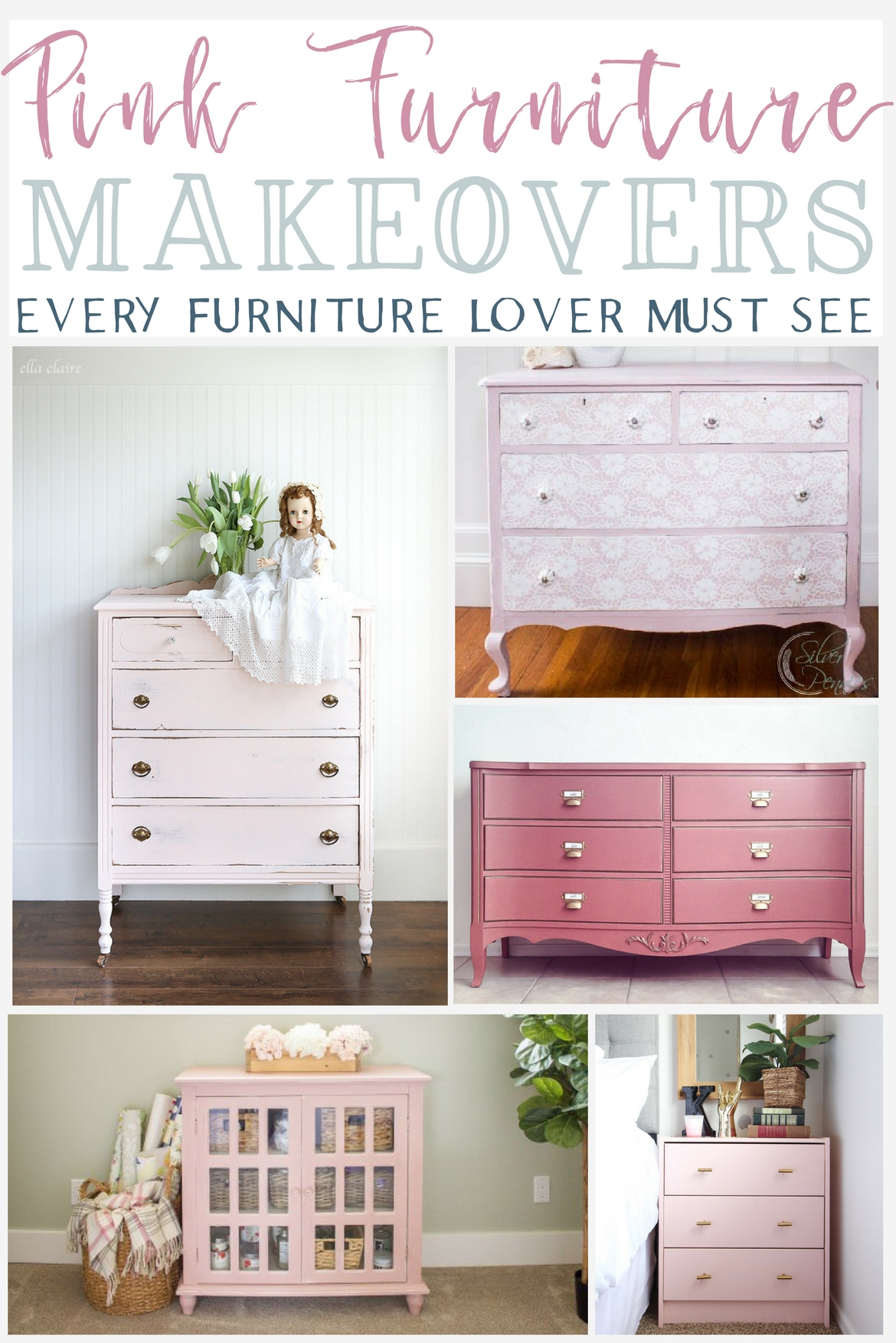 10 Pink Furniture Makeovers Every Furniture Lover Must See The