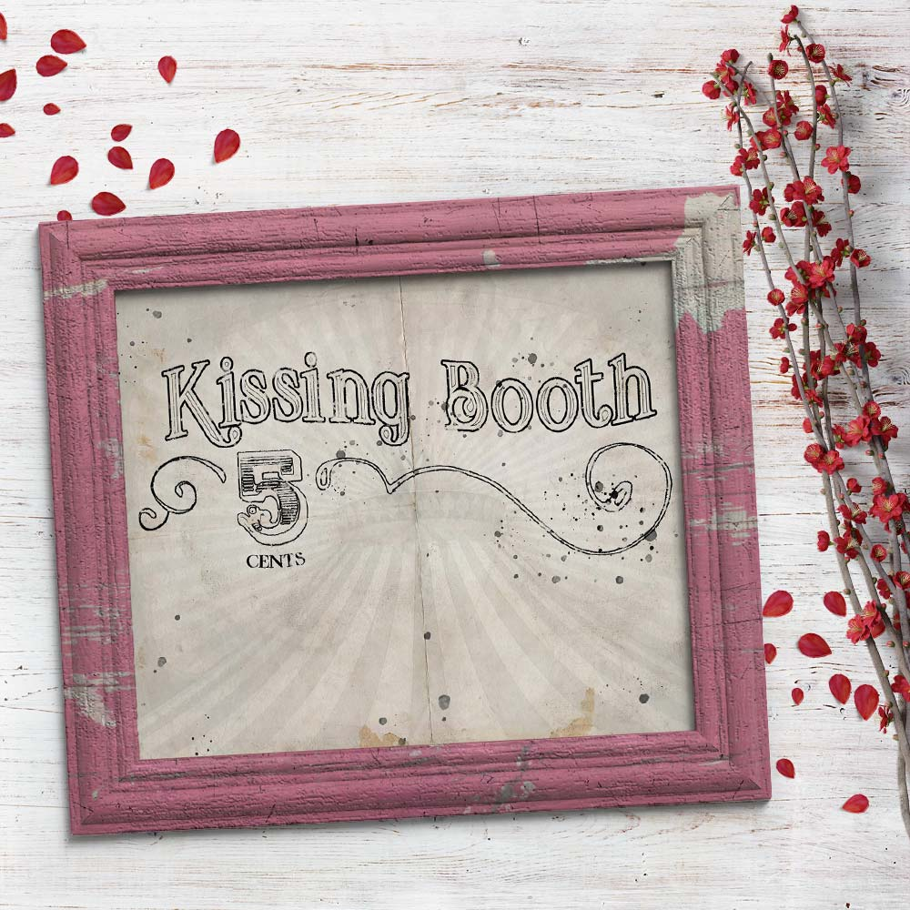 Vintage Kissing Booth Art Print Free for You to Download!