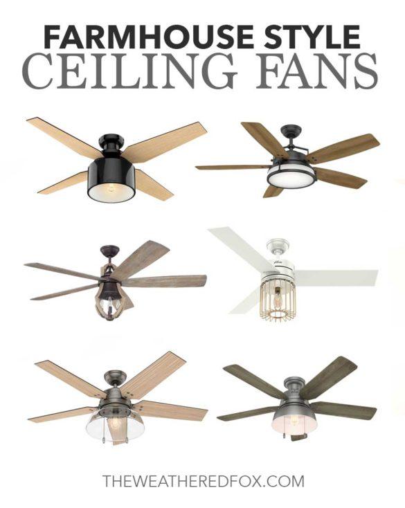 Farmhouse Style Ceiling Fans
