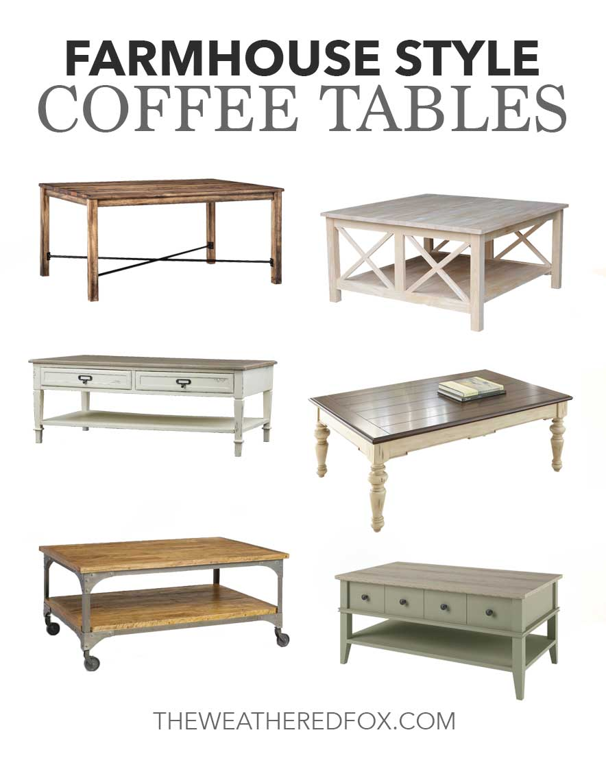 farmhouse style coffee tables the weathered fox. Black Bedroom Furniture Sets. Home Design Ideas