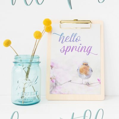 Gorgeous (Free!) Spring Art Watercolor Printable for You!