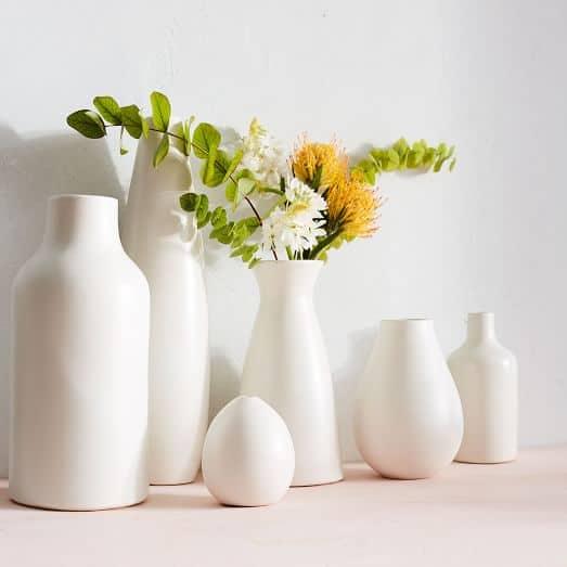Pure White Ceramic Vases C The Weathered Fox
